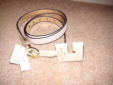 "Kate Spade Light Pink & Metallic Gold Leather Reversible Belt Width 3/4 ""NWT  L"