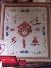 Cross stitch chart Alpine Orologio campionatore