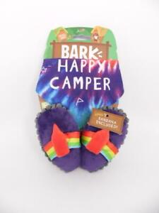 Bark Happy Camper Flip Flops Pack Up Dog Toys for Small Dogs + Bandana