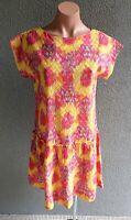 💜 BNWT BOOM SHANKAR Cap Sleeve Tunic Dress Multicolor Size 8 Buy7=FreePost L823