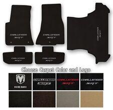 Dodge Challenger Velourtex Carpet Floor Mats- Choice of Carpet Color & Logo