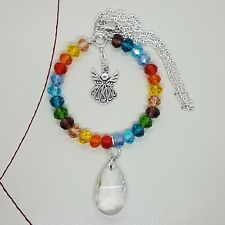 Sun Catcher Rainbow Glass Beads Angel Charm Handmade