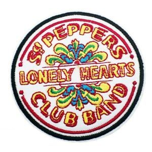 THE BEATLES SGT PEPPERS LONELY HEARTS CLUB BAND EMBROIDERED IRON ON SEW PATCH