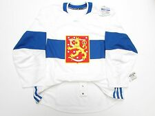 FINLAND AUTHENTIC WHITE 2016 WORLD CUP OF HOCKEY TEAM ISSUED ADIDAS JERSEY SZ 58