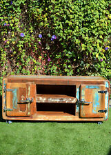 Vintage Industrial Retro Fridge Recycled Timber Entertainment Unit TV Stand