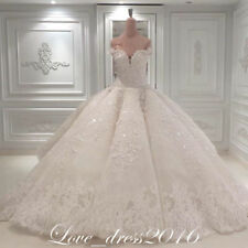 Luxury A Line Lace Wedding Dress Real Images Beads Bridal Gown Custom Size 2-16