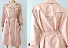 True Vintage Soft Pink Lanson Foxland All Weather Rain Trench Coat M