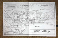 "Vintage Prisoner TV Series Map of Village- 22""x15""-Folded w 2 Pictures & Patch"