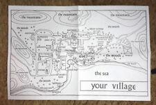 "Vintage Prisoner TV Series Map of Village- 22""x15""-Folded w 2 Pictures & Patch"