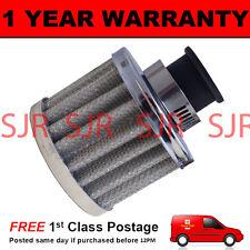16 mm Filtro De Aceite Cárter Respiradero De Aire se ajusta la mayoría de los vehículos de Plata Redondo
