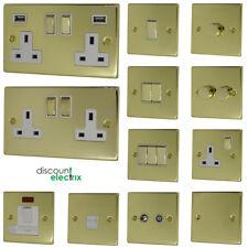 Polished Brass Light Switches & Plug Sockets