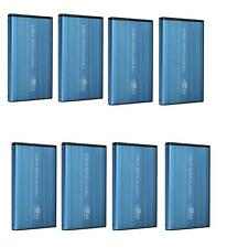 Lot10 pcs External 2.5 IDE Hard Disk Drive HDD Case Enclosure USB 2.0 Blue New