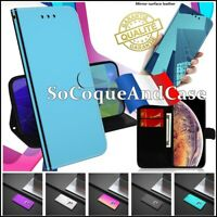 Etui coque housse Miroir Like Surface Wallet Mirror Case Xiaomi Poco X3 NFC
