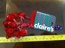 Christmas Xmas Festive Deer Sleigh Bell Jangly Red Bracelet Claires Claire's
