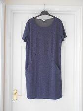 BODEN  New  Casual Seam Detail Tunic Dress - Grey/Indigo - UK 12 R