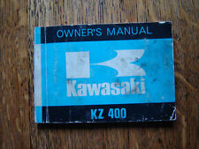 KAWASAKI  KZ400  OWNERS MANUAL / HANDBOOK / BOOKLET 1973