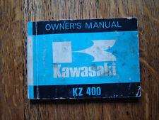 KAWASAKI  KZ400  OWNERS MANUAL / HANDBOOK / BOOKLET 1973