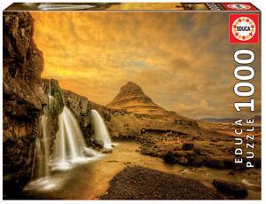Educa 1000pc Jigsaw Puzzle - Landscape Kirkjufellsfoss Waterfall in Iceland