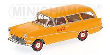1:43 Minichamps Opel Rekord P1 MOBIL HOME 1958 COCA COLA