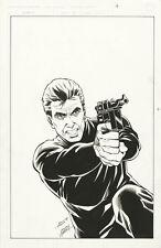 Sable 3 ORIGINAL COVER ART Bill Jaaska 1987 First Comics HAND DRAWN Signed B/W