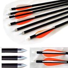 10 Frecce Di Tiro Con L'arco In Fibra Vetro Punta Acciaio compatibili Compound &