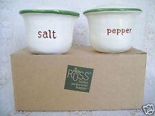 Rare Vintage Russ Make Someone Happy Salt & Pepper shaker Mint In Box