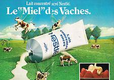 PUBLICITE  1980   NESTLE  lait concentré  (2 pages)