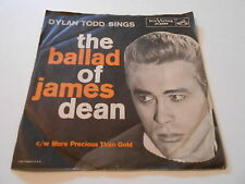 THE BALLAD OF JAMES DEAN  DYLAN TODD SINGS, PS VG+++,VINYL  VG++