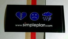 Simple Plan .Com No Pads No Helmets Just Balls Heart Sad Face Board Case Sticker