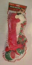 Multipet Holiday Stocking - Set of 5 DOG TOYS~Balls Rope Squeaky Red Dog Toys