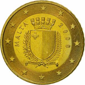 [#463457] Malte, 50 Euro Cent, 2008, SPL, Laiton, KM:130
