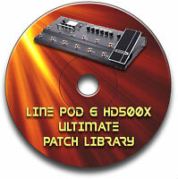 LINE 6 POD HD500X PRE-PROGRAMMED TONE PATCHES CD OVER 4400! - GUITAR EFFECTS