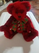 Annette Funicello cranberry red collectable bear