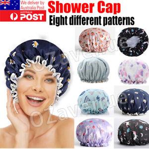 Shower Cap Sleep Luxury Bath Hat Hair Care waterproof double layer reuse woman