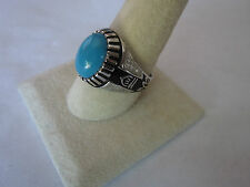 Islamic Sterling Silver Ring With Turquoise  925 for men islamic symbol sz 10