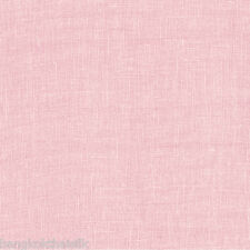 """Pale Pink Faux Linen 60""""W Vintage Fabric BTY Dress Blouse Tablecloth Craft Bag"""