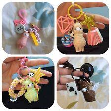 RARE Cute Japanese Alpaca / Alpacasso keychain, key charms / Kawaii