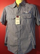 PRIVATE MEMBER Men's Blue-Gray Striped Button Up Shirt - Size Small - NWT