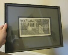 12 x 17 Vintage framed print. Vision of St. Bernard. Wilhelm Bernatzik