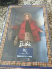 Barbie burberry of london blue label new doll