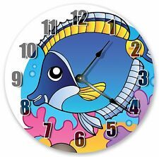 "10.5"" CUTE CARTOON FISH SEA CREATURES KIDS CLOCK - Large 10.5"" Clock"