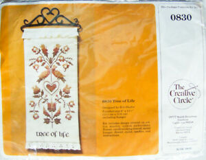 "Creative Circle ""TREE OF LIFE"" Cross Stitch Wallhanging Kit #0830 - New, Sealed"