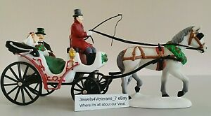 Dept 56 Christmas in the City- A Carriage Ride for the Bride 58901 New Retired💖