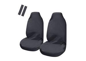 Universal Car Seat Covers Slip On Throw Over Loose Fit BLACK  Pair + Bonus