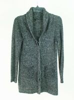 Tahari Wool Blend Black White Button Front Cardigan Sweater Size Small