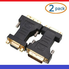 DVI to VGA Male to Female Adapter ( 24+5) Cable Matters 2 Pack NEW