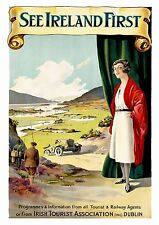 See Ireland first , Vintage Irish travel Reproduction poster, Wall art.
