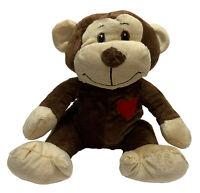 Valentines Day Owen Monkey 25cm with Red Heart Valentine's Day Gift Soft Plush