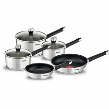 Tefal Emotion Stainless Steel 5 Piece Pan Set, Induction Compatible - E824S544