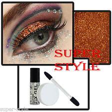 BRONZE Glitter Eyes / Lips Set: Loose eyeshadow, Stargazer Fix gel, Applicator